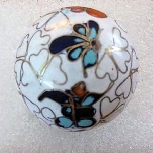 Jewelry - Cloisonne Enamel ~ Large Inlaid Bead with Hole